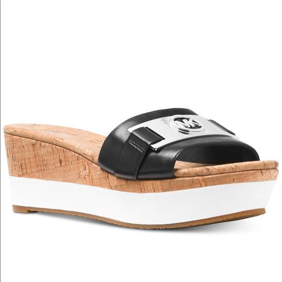 0beded39e33 Michael Kors Warren Platform Wedge Sandals